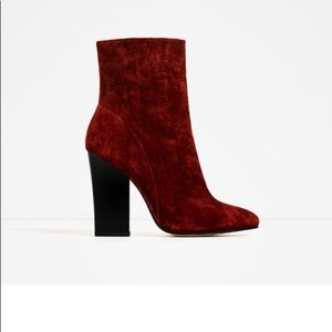 Brand new suede boots from Zara still in box